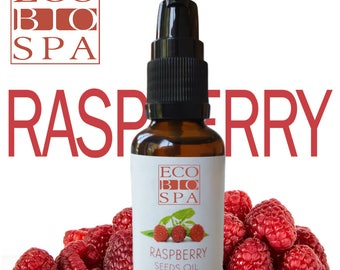 RASPBERRY SEED Oil Pure Organic anti - aging,30-50 SPF sun protection Uva Uvb, Moisturiser, for all skin types, best after tanning, Eco