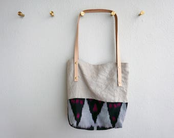 The Orya - Ikat Cotton and Italian Linen Everyday Shoulder Bag