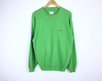 Rare!!! Vintage Benetton Sweatshirt Embroidery United Colors Of Benetton Multicolor Embroidered Spellout