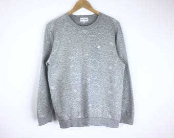 Rare!!! Vintage Courreges Sweatshirt Courreges Allover Shirt EmbroiderySmall Logo Pullover Jumper Sweater