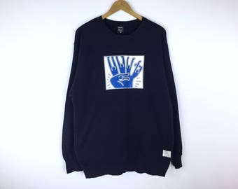 Rare!!! Vintage Keith Haring Sweatshirt Pullover Jumper Sweater Pop Art Design Skateboards Skater Streetwear