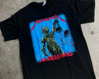 Metallica Justice for all t shirt color black heavy metal