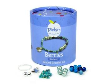 Berries Bag Charm PipKit Blueberry - Makes 1 Bag Charm