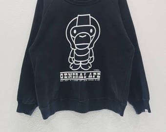 Vintage Baby Milo By A Bathing Ape General Ape Sweatshirts Nice Design Black Colour