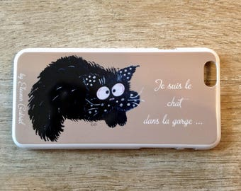 Iphone 6 case with cat in the throat
