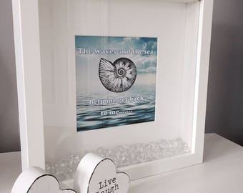 Zen 'The Waves and The Sea' Print with Frame