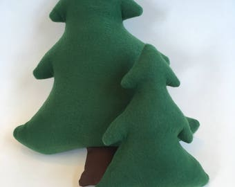 Stuffed Pine Trees (Set of Two), Pine Tree Pillows