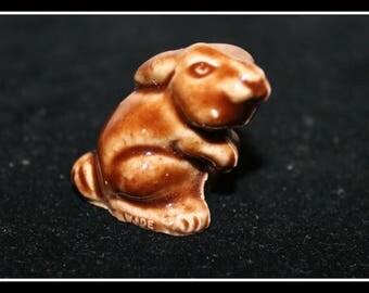 Miniature Rabbit Figurine, Shadowbox Rabbit Figurine, Miniature Rabbit, Bunny Rabbit, Ceramic Rabbit, Wade Ceramics