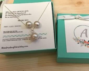 FREE SHIPPING!!! AAA+ Genuine Natural Freshwater Pearl, Stud earrings 925 Sterling Silver, for lovely Wifey, Girl friend, Best friend