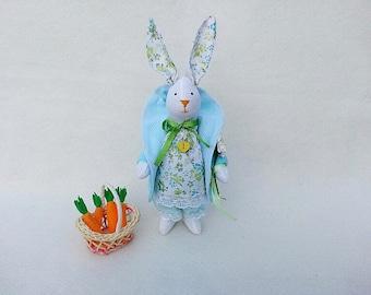 Tilda Doll, Rag Doll, Cloth Doll, Bunny plush, Textile home decor, Bunny Doll Gift, Fabric Doll, Fabric Hare, Soft Rabbit, Nursery Decor