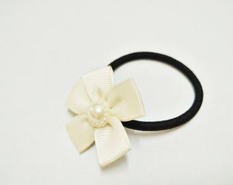 Flower Hair Tie, Girl's Hair Tie, Elastic Hair Tie, Ponytail Tie, Hair Accessory, Hair Band, Gift, Christmas, Birthday, Wedding