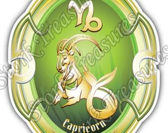 Capricorn Zodiac Sign Horoscope Astrology Car Bumper Vinyl Sticker Decal