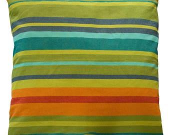 Pillowcase of happy stripes - fair trade, 100% cotton, 50x50cm, #188