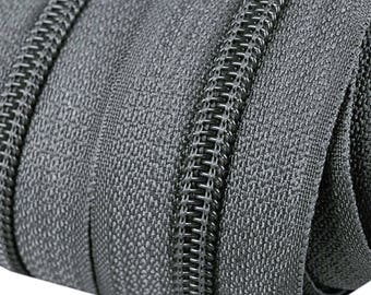 6m of endless zipper 5mm with 15 zippers and tails 312 zinnfarben