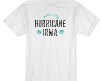 I Survived Hurrican Irma Florida Miami Men's White T-shirt