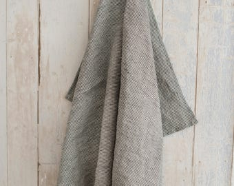 Linen dish towel natural and black striped towel linen kitchen towel kitchen linens natural linen dishcloth handmade linen kitchen towel
