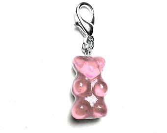Pink gummy bear charm-clear LEXFIMO