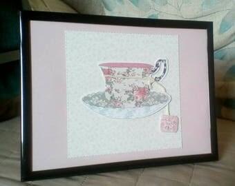 Decorative tea photo art