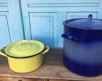 Enameled steel pot