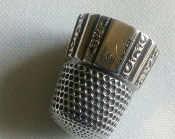 STERLING SILVER Thimble from antique era
