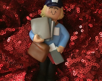 Mail carrier personalized Christmas ornament