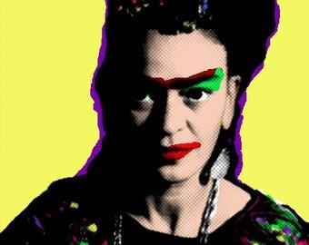 Print, Frida Kahlo Pop Art Portrait