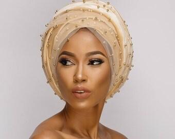 Beaded turban for women. Velvet turban. Head wrap. Turban for women. Wrapped turban. Head gear. Scarves for women