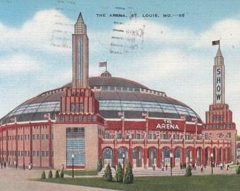 St. Louis, Missouri postales Vintage - los Arena, exposiciones, espectáculos, Premio peleas