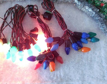 Christmas Electric Lights from 1940s SHIPPING INCLUDED