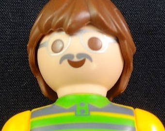 Playmobil, Man with Glasses, Playmobil Guy, Playmobil Yellow Shirt, Playmobile