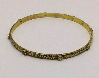 vermeil sterling silver cz bracelet  #210