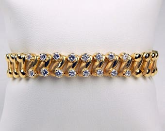 18k Gold 1.5 Ctw diamond bracelet  #10690