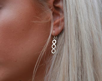Circles Earrings in Sterling Silver