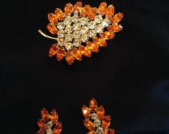 Orange & Clear Crystal Set