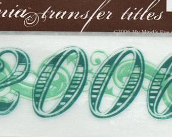 2006 Title Rub On Transfer Embellishments Cardmaking Crafts My Mind's Eye Bohemia