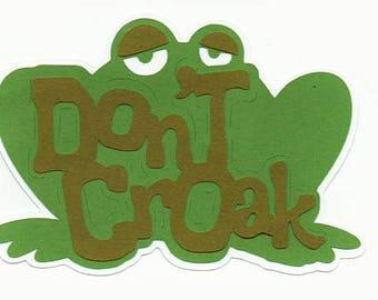 Frog Halloween Title Paper Piecing Premade Scrapbook Card Making Scrapbooking Pages Die Cuts