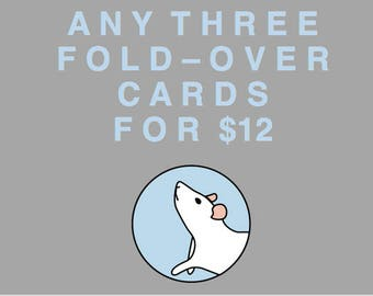 NEW! Set of three fold-over cards