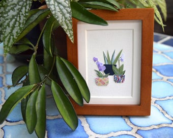Two Orchids - Original Framed Art
