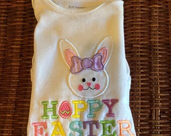 Embroidered Easter Bunny shirt-custom made up to 6x
