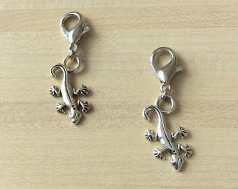 Set of 2 salamander: removable markers for knitting or crochet