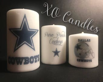 Dallas Cowboys Inspired Candles