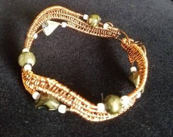 Copper Wire Woven Wave Bracelet