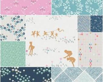 Fresh Adventures Playground Fat Quarter Bundle Amy Sinibaldi for Art Gallery Fabrics, 100% Cotton, Fat Quarter, Precuts
