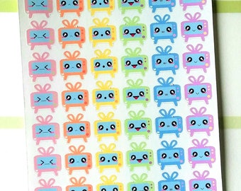 Hot Summer Nights Sale: Kawaii TV Planner Stickers