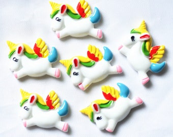 10pcs/pack 31mmX23mm unicorn scrapbooking embellishments,resin unicorn cabochons,Flatback unicorn decoration free shipping