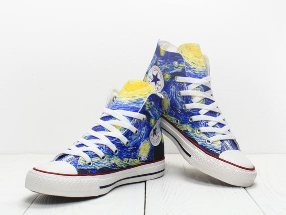 9ab689f3d931 70%OFF Starry Night Van Gogh custom converse all star sneakers fine ...