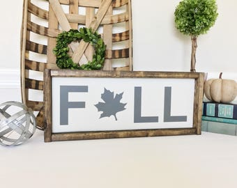 Fall Sign, Fall Leaf Sign, Leaf Sign, Autumn Decor, Thanksgiving Decor, Fall Decor, Fall Home Decor, Fall Wood Sign, READY TO SHIP
