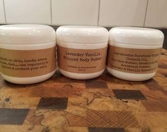 New & Improved Lavender Vanilla Whipped Body Butter (Vegan)