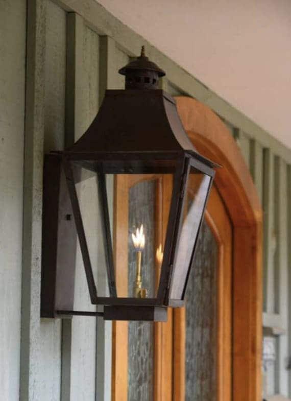 Copper Lantern Pendant Lighting Light Fixture Rustic