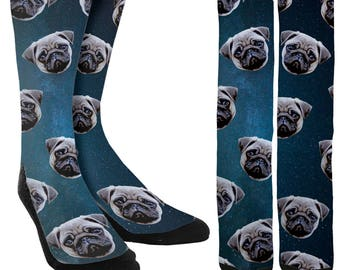 Pug Socks -Socks with Pugs - Funny Socks - Socks for Men-Socks for Women-Crazy Socks-Unique Socks-Novelty Socks-Cool Socks-FREE Shipping B43